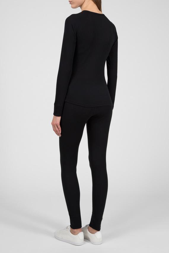 Женское черное термобелье (лонгслив, брюки)