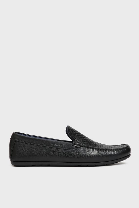 Мужские черные кожаные мокасины SEASONAL