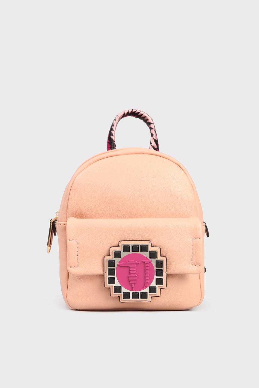 Женский персиковый рюкзак