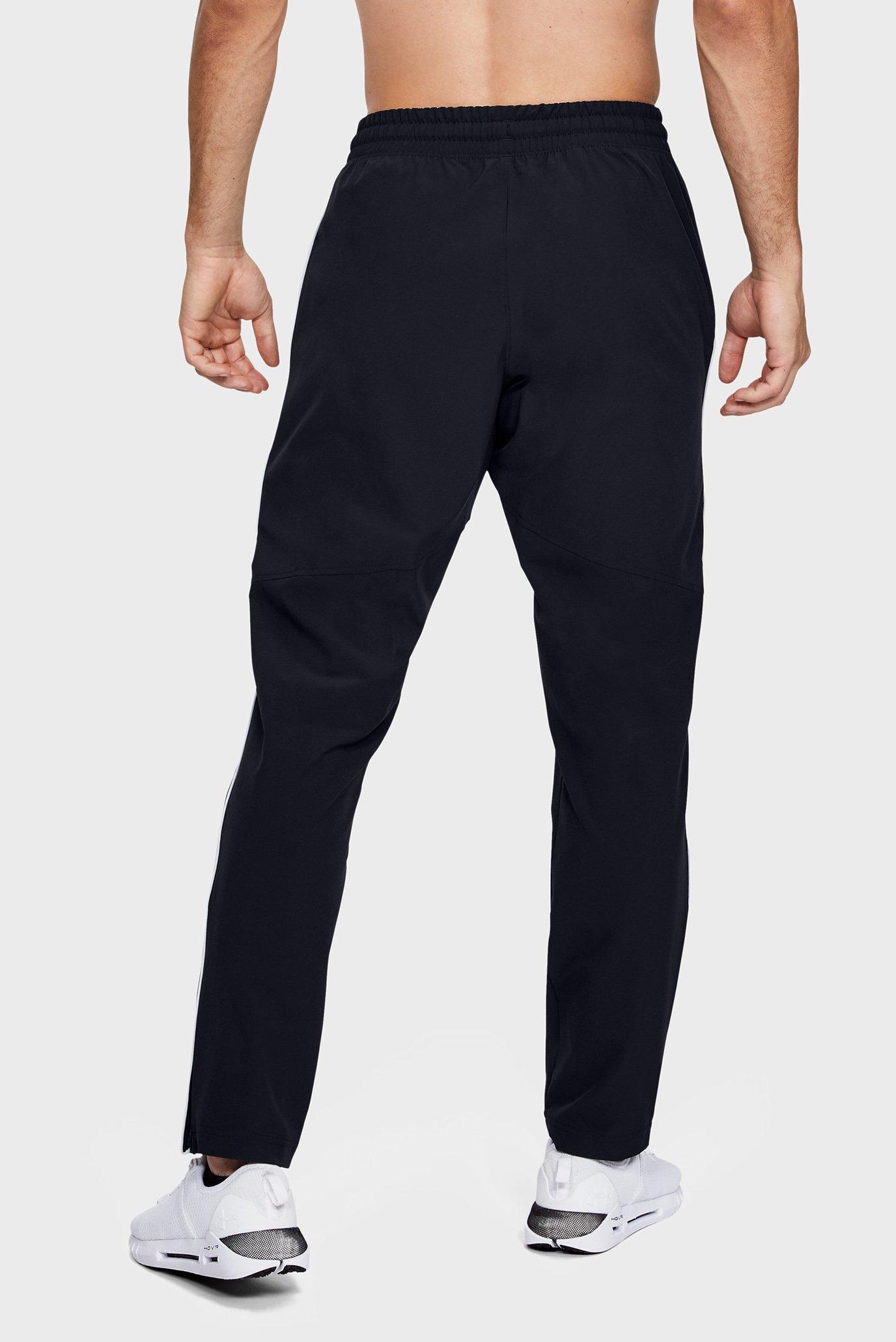 Мужские черные спортивные брюки Athlete Recovery Woven Warm Up Bottom Under Armour