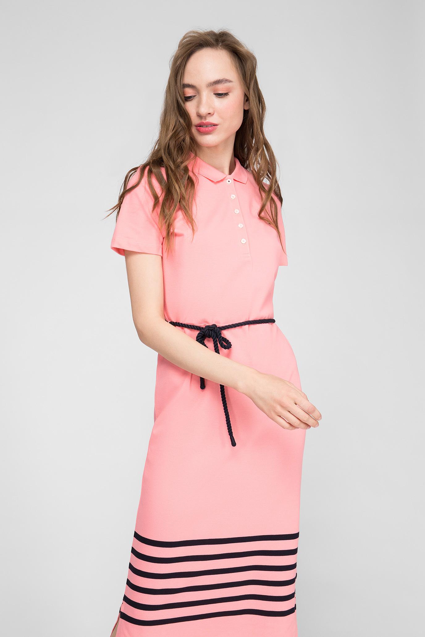 Женское розовое платье Slim Fit Tommy Hilfiger