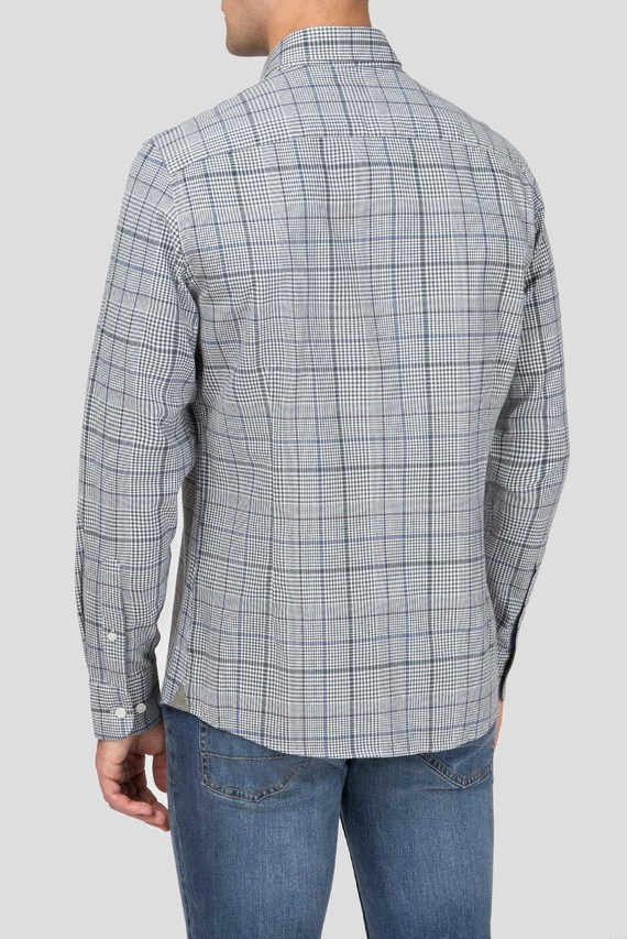 Мужская рубашка в клетку GREY PTOOTH CHK