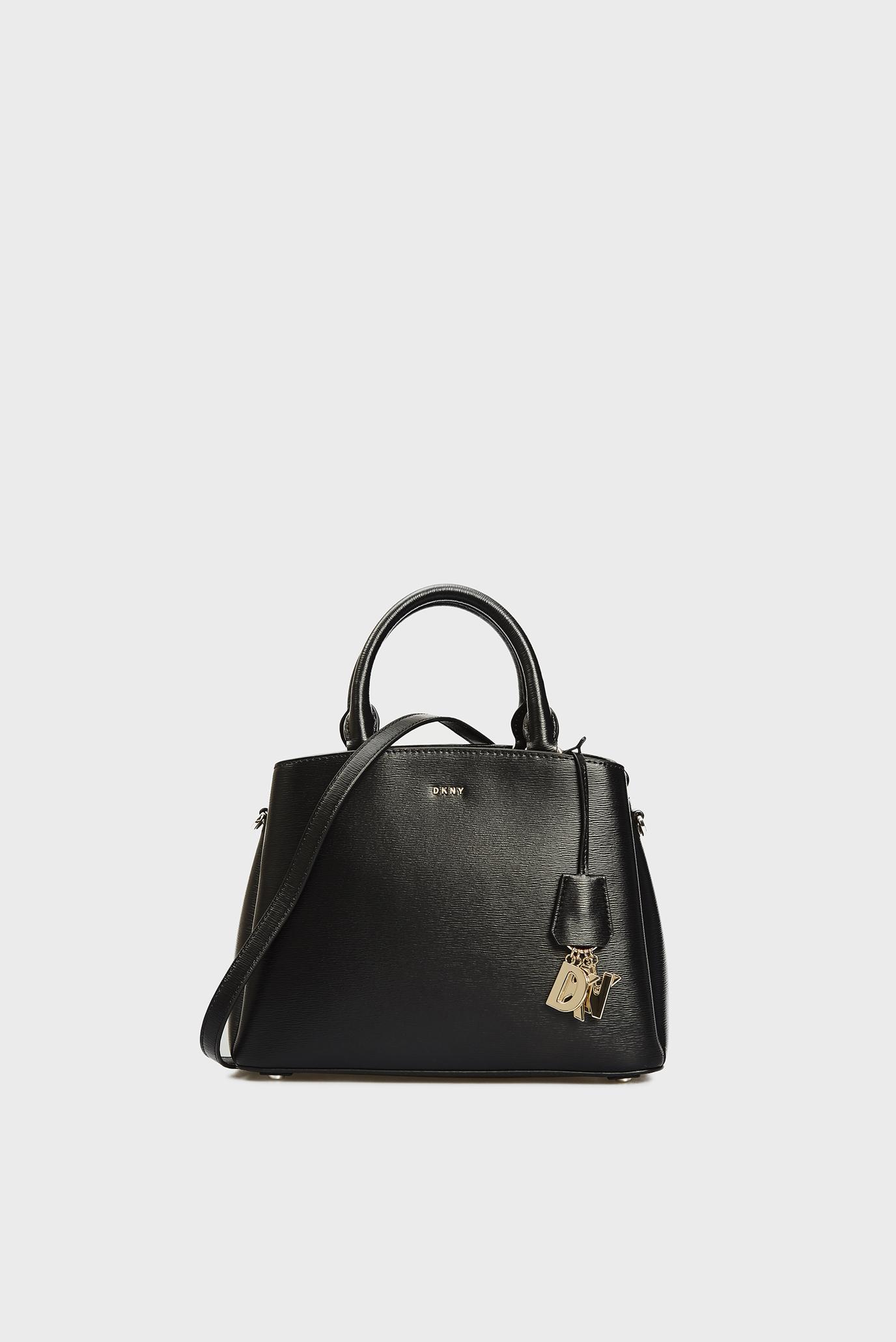 Женская черная кожаная сумка PAIGE 1