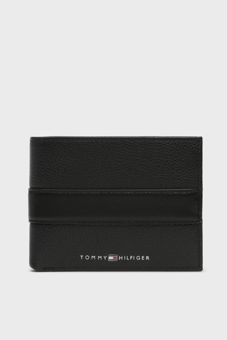 Мужской черный кожаный кошелек TH DOWNTOWN EXTRA CC AND COIN
