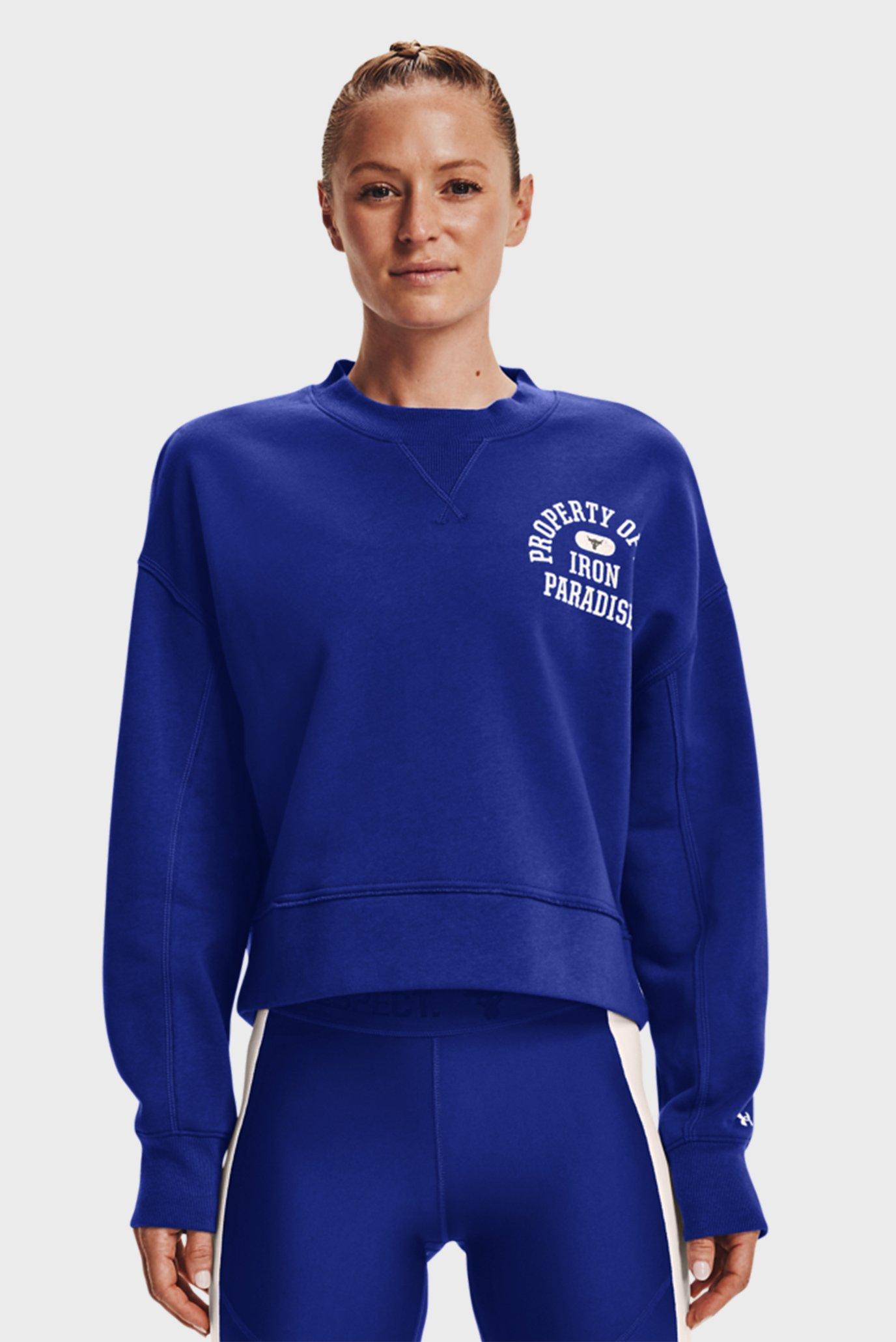 Женский синий свитшот UA Prjct Rock Fleece LC Crew 1