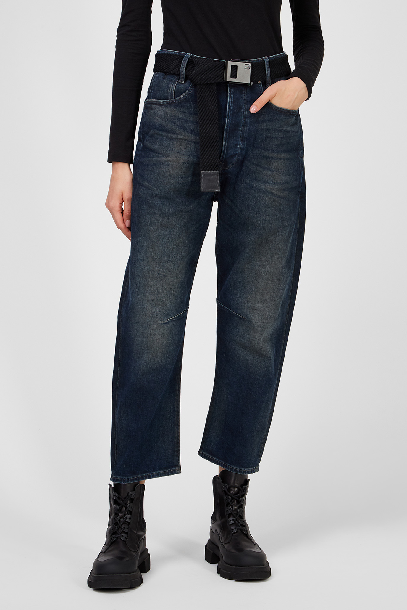 Женские темно-синие джинсы C-Staq 3d Boyfriend Crop 1