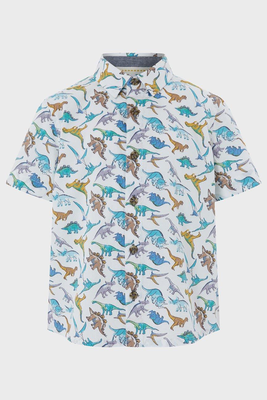 Детская бежевая рубашка David Dino Shirt