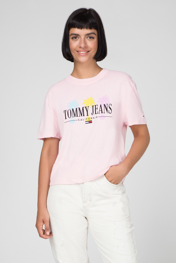 Женская розовая футболка TJW SUMMER PALM TREE