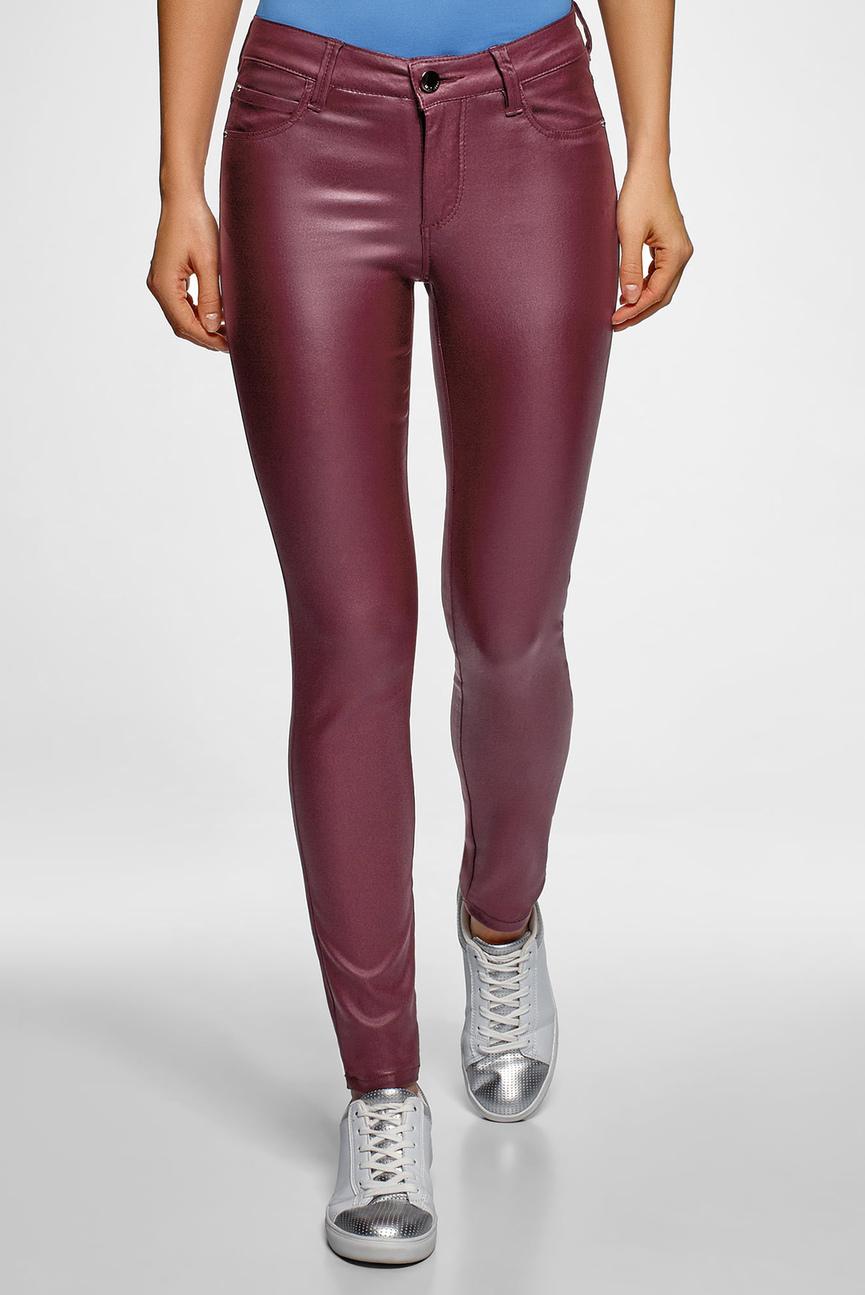 Женские бордовые джинсы