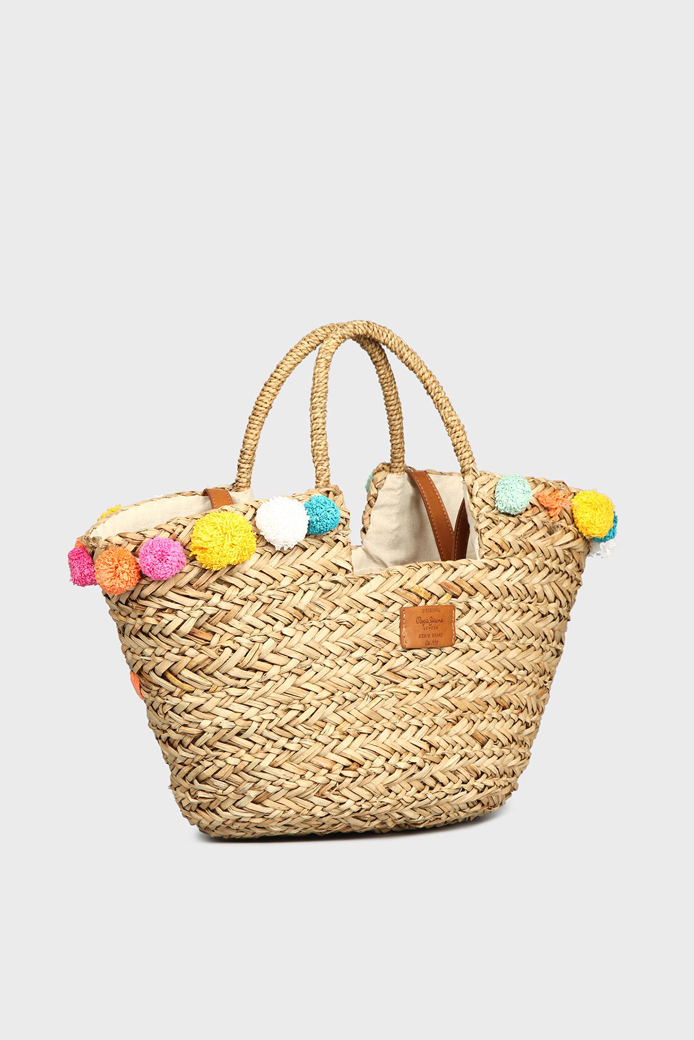 c3f035371e48 Купить Женская соломенная сумка с помпонами Pepe Jeans Pepe Jeans PL030731  – Киев, Украина. Цены в интернет ...