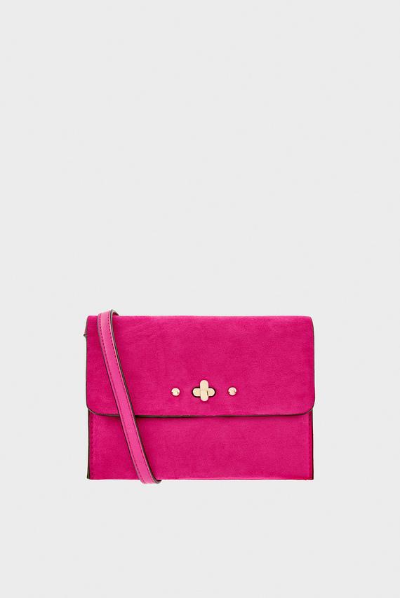 Женская розовая сумка через плечо SARAH