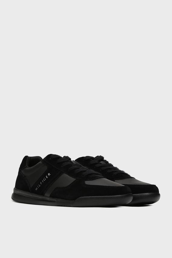 Мужские черные кожаные кроссовки LIGHTWEIGHT MIX DETAIL