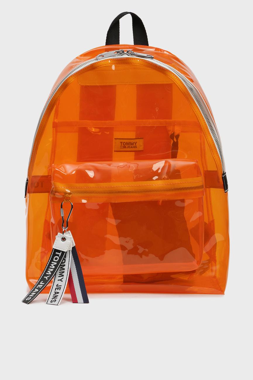 Оранжевый рюкзак TJU LOGO TAPE BACKPACK TRAN
