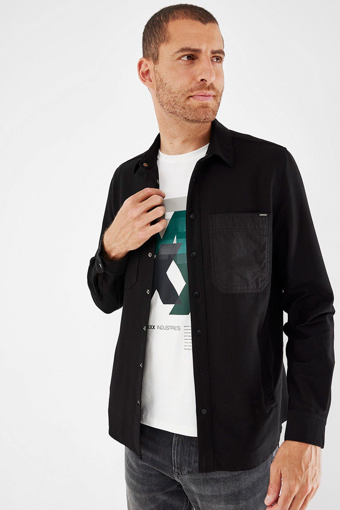 Мужская черная рубашка 1