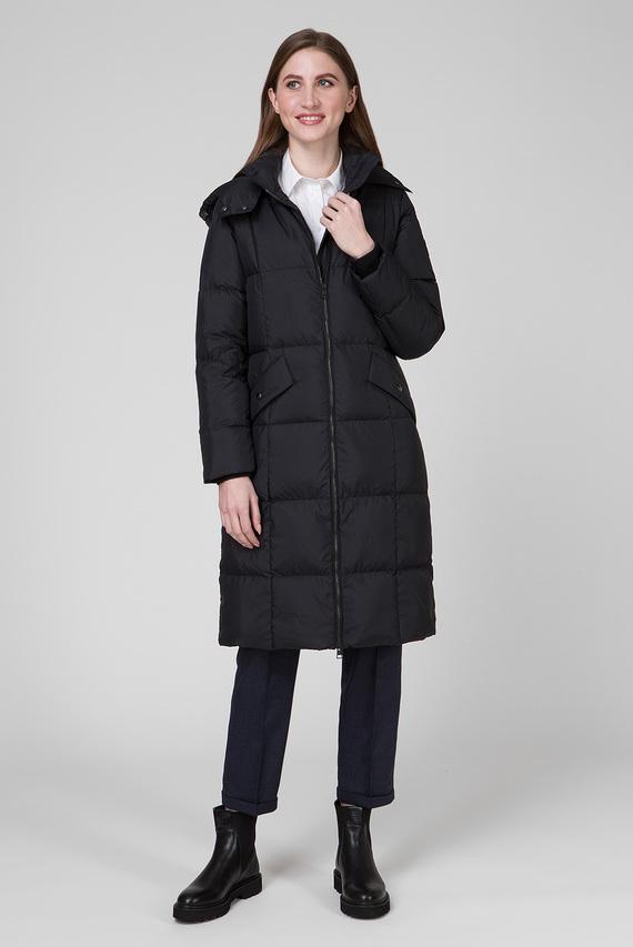 Женский черный удлиненный пуховик LONG DOWN COAT