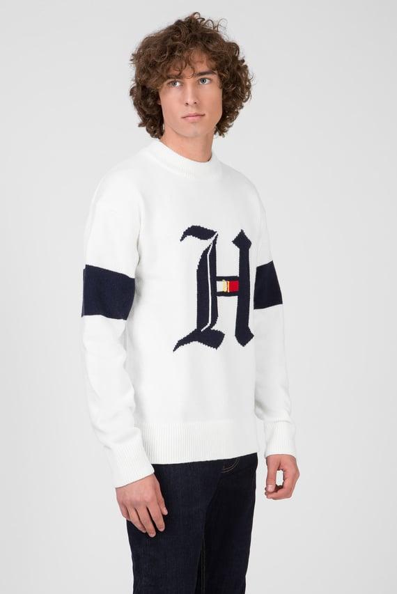 Мужской белый свитер LEWIS HAMILTON OVERSIZED GRAPHIC
