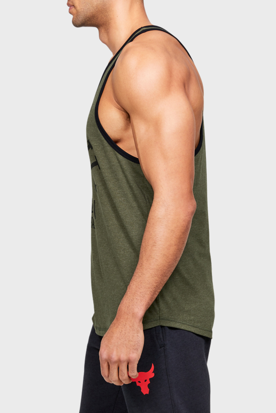 Мужская зеленая спортивная футболка UA Pjt Rock Iron Paradise Tk