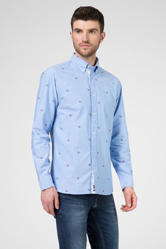 Мужская голубая рубашка с принтом TH FIL COUPE