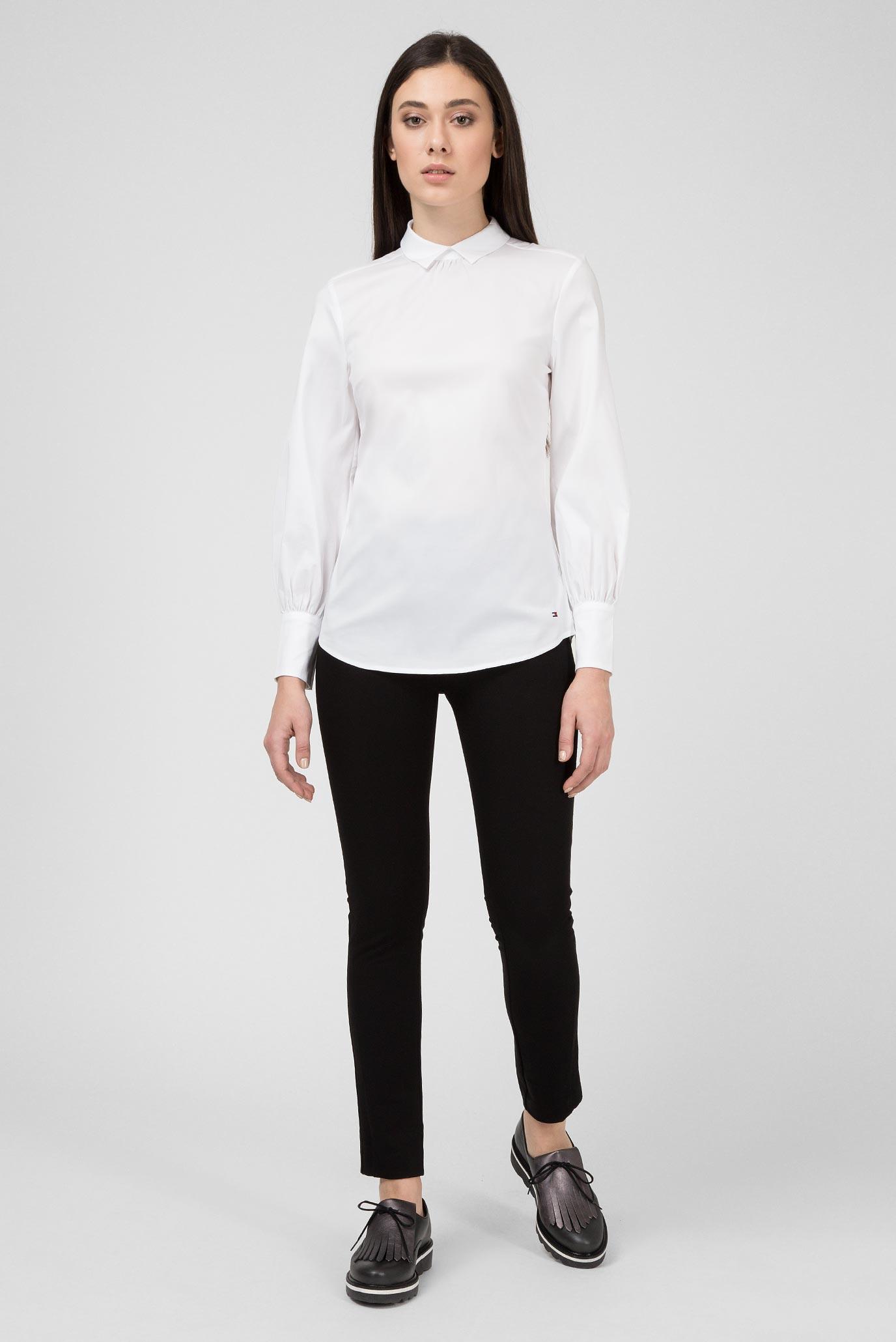 Купить Женская белая рубашка Tommy Hilfiger Tommy Hilfiger WW0WW23039 – Киев, Украина. Цены в интернет магазине MD Fashion