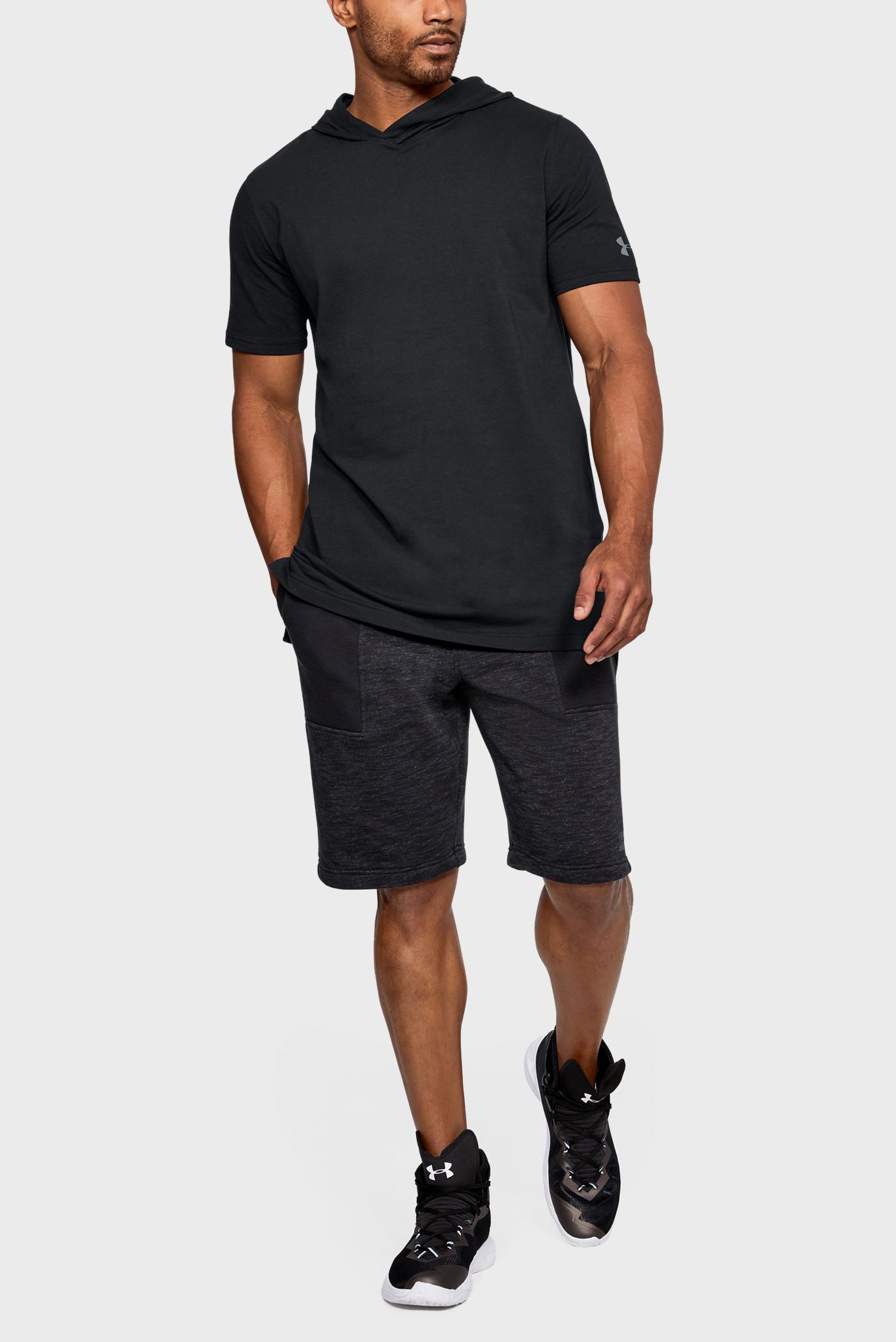 Купить Мужская черная футболка UA Baseline Hooded Under Armour Under Armour 1309841-001 – Киев, Украина. Цены в интернет магазине MD Fashion
