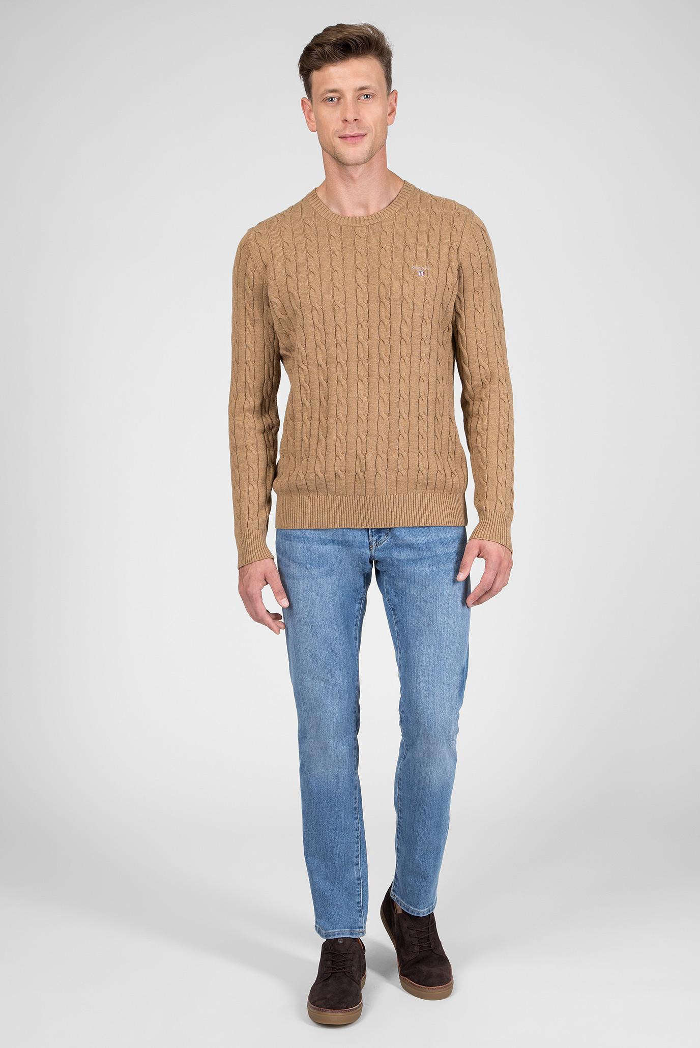 Купить Мужской бежевый джемпер Gant Gant 80051 – Киев, Украина. Цены в интернет магазине MD Fashion