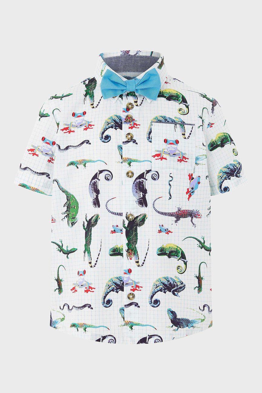 Детская рубашка с принтом Olly Iguana