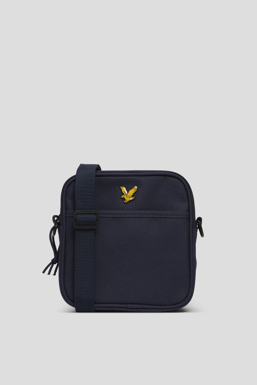 Мужская темно-синяя сумка через плечо