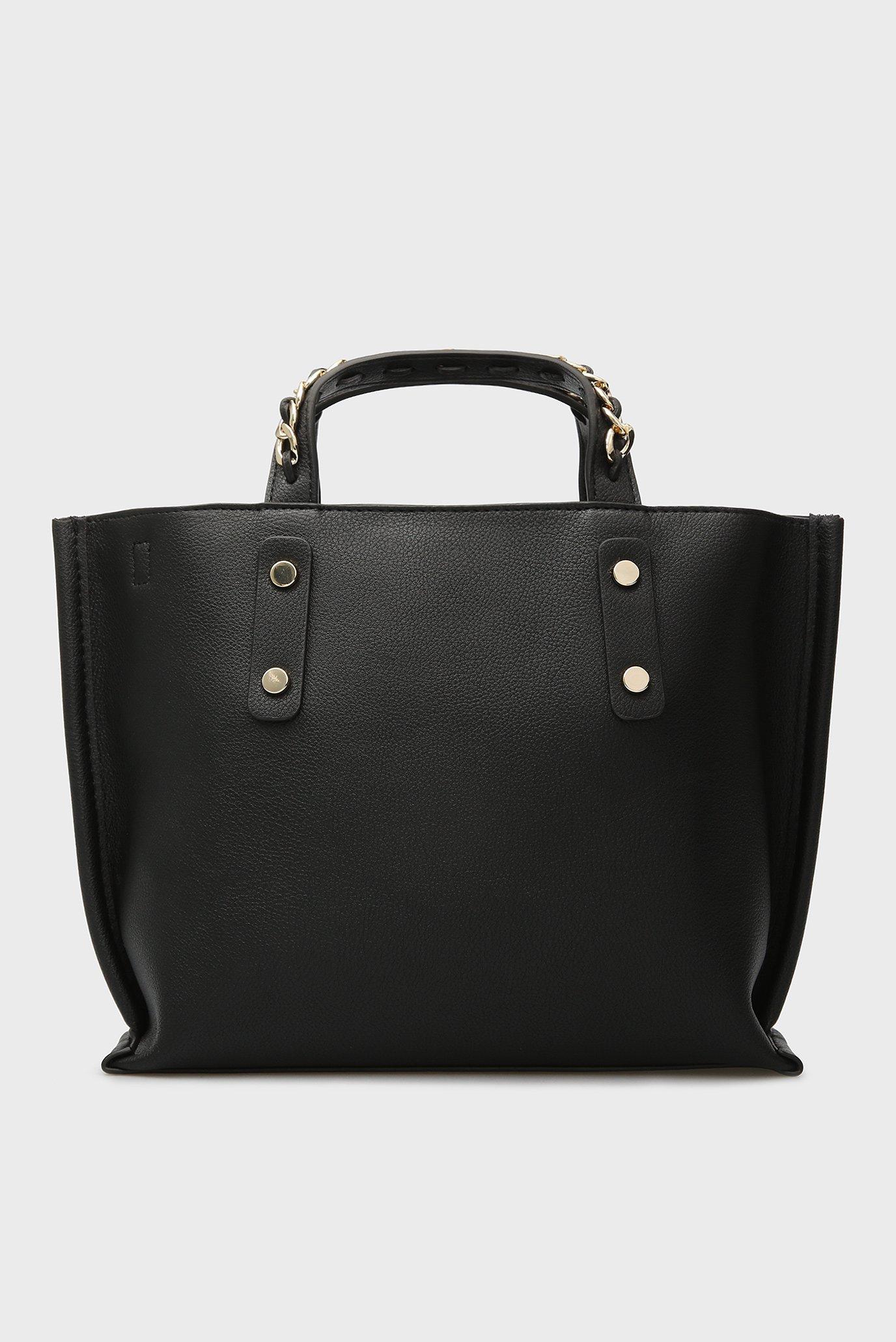 Купить Женская черная сумка на плечо CHAIN SMALL TOTE Tommy Hilfiger Tommy Hilfiger AW0AW05818 – Киев, Украина. Цены в интернет магазине MD Fashion