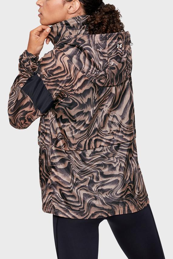Женская коричневая ветровка с принтом Perpetual Storm FZ Print