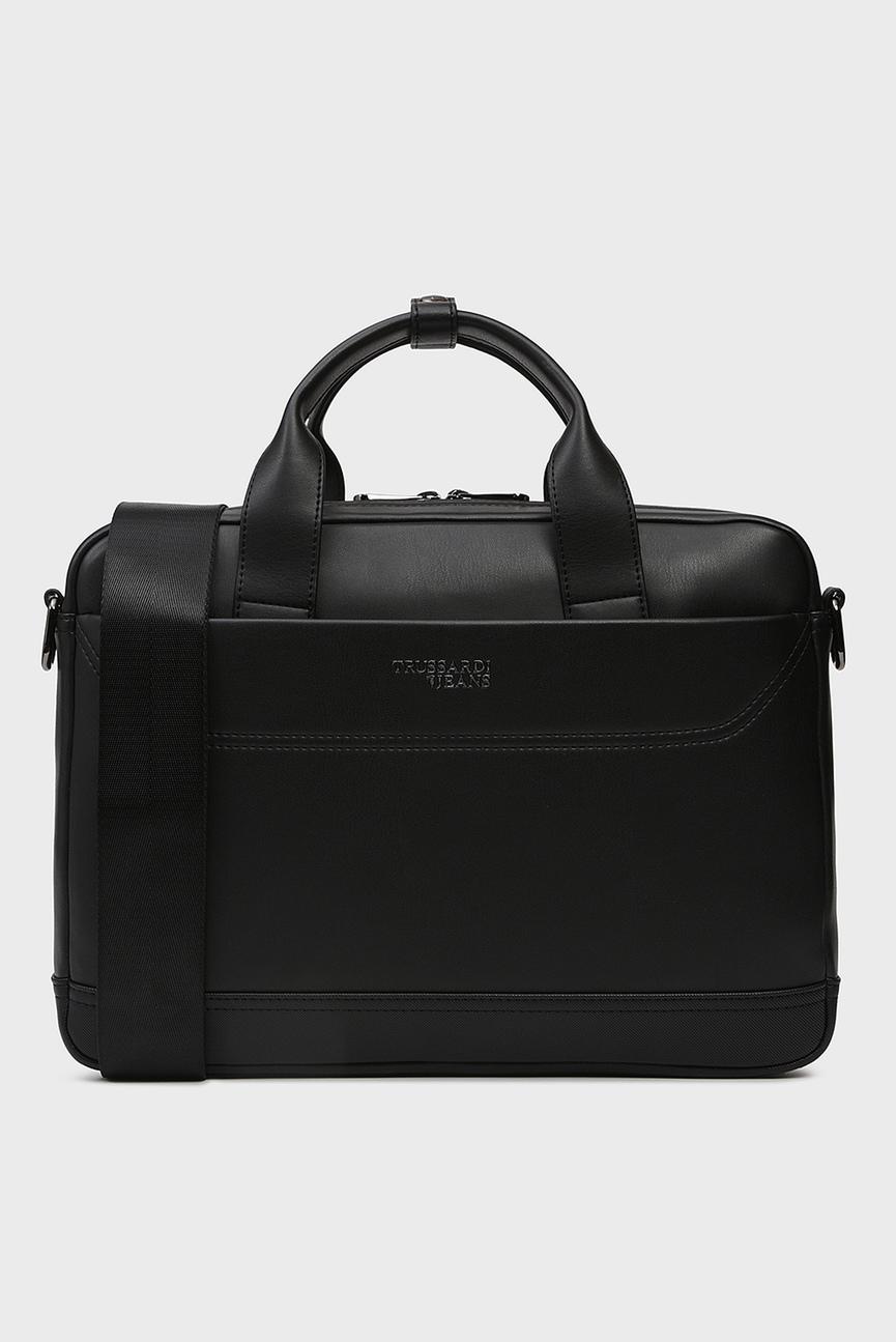Мужская черная сумка для ноутбука BUSINESS CITY