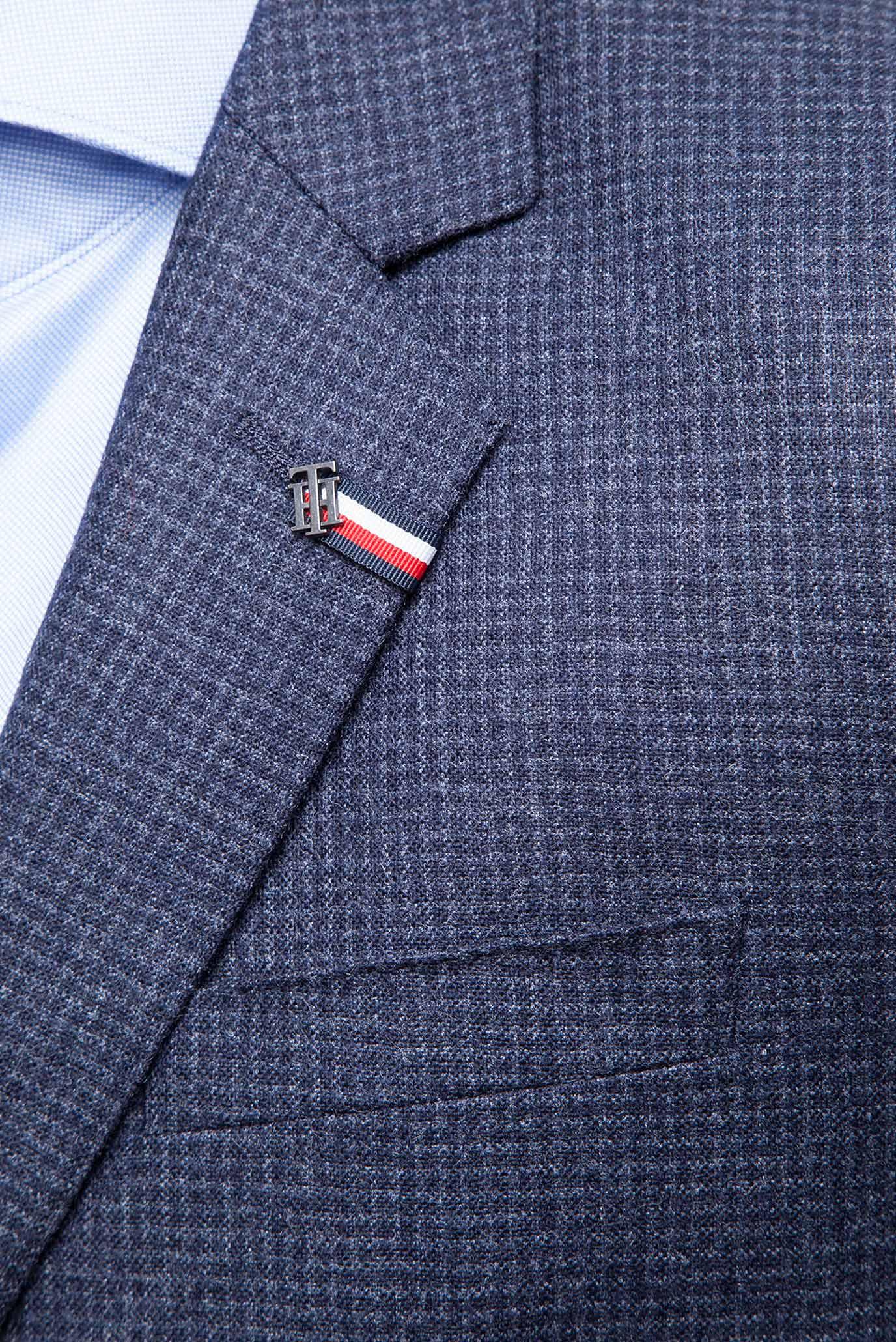 Купить Мужской темно-синий пиджак в клетку Tommy Hilfiger Tommy Hilfiger TT0TT01693 – Киев, Украина. Цены в интернет магазине MD Fashion