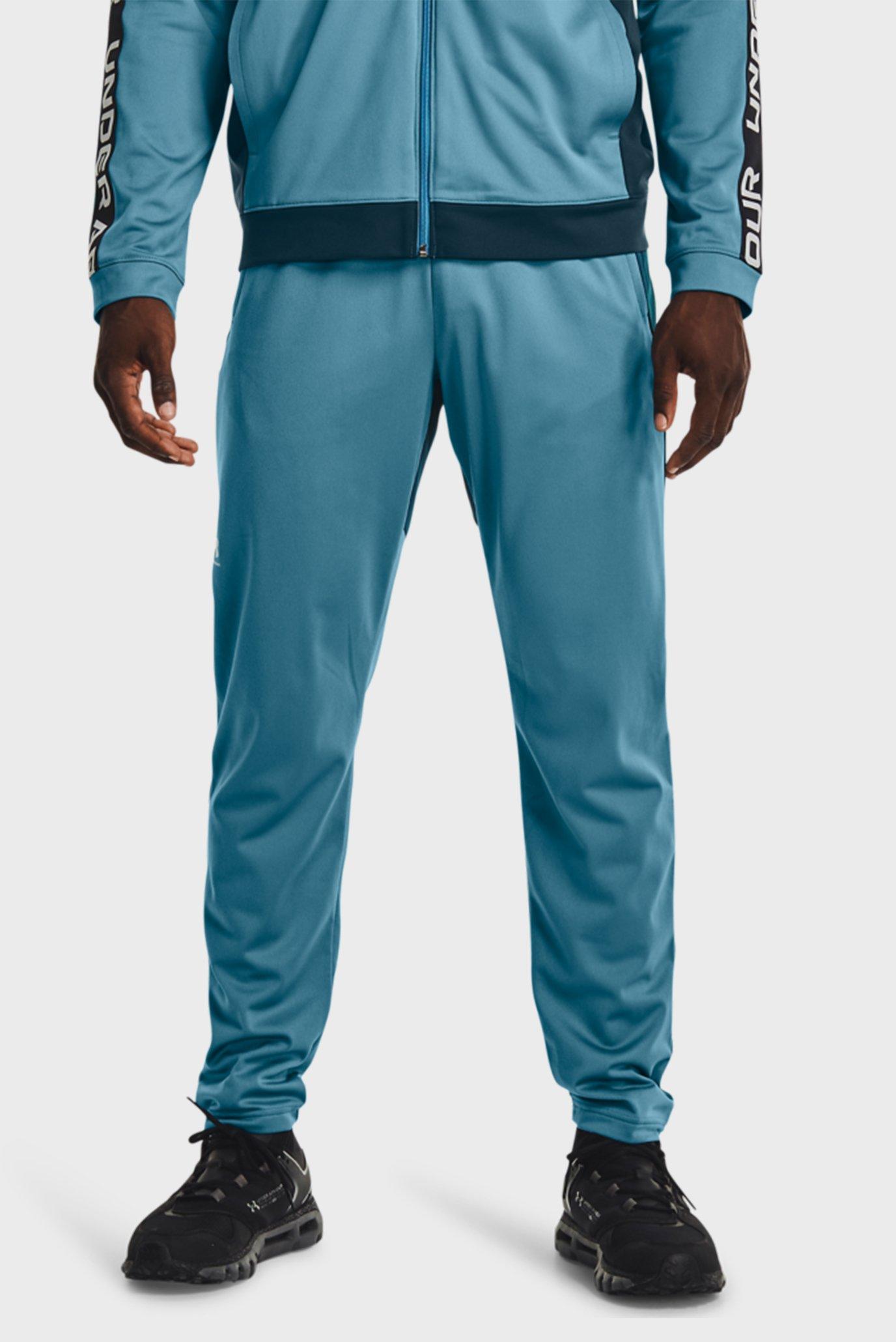 Мужские бирюзовые спортивные брюки UA TRICOT FASHION TRACK PANT 1