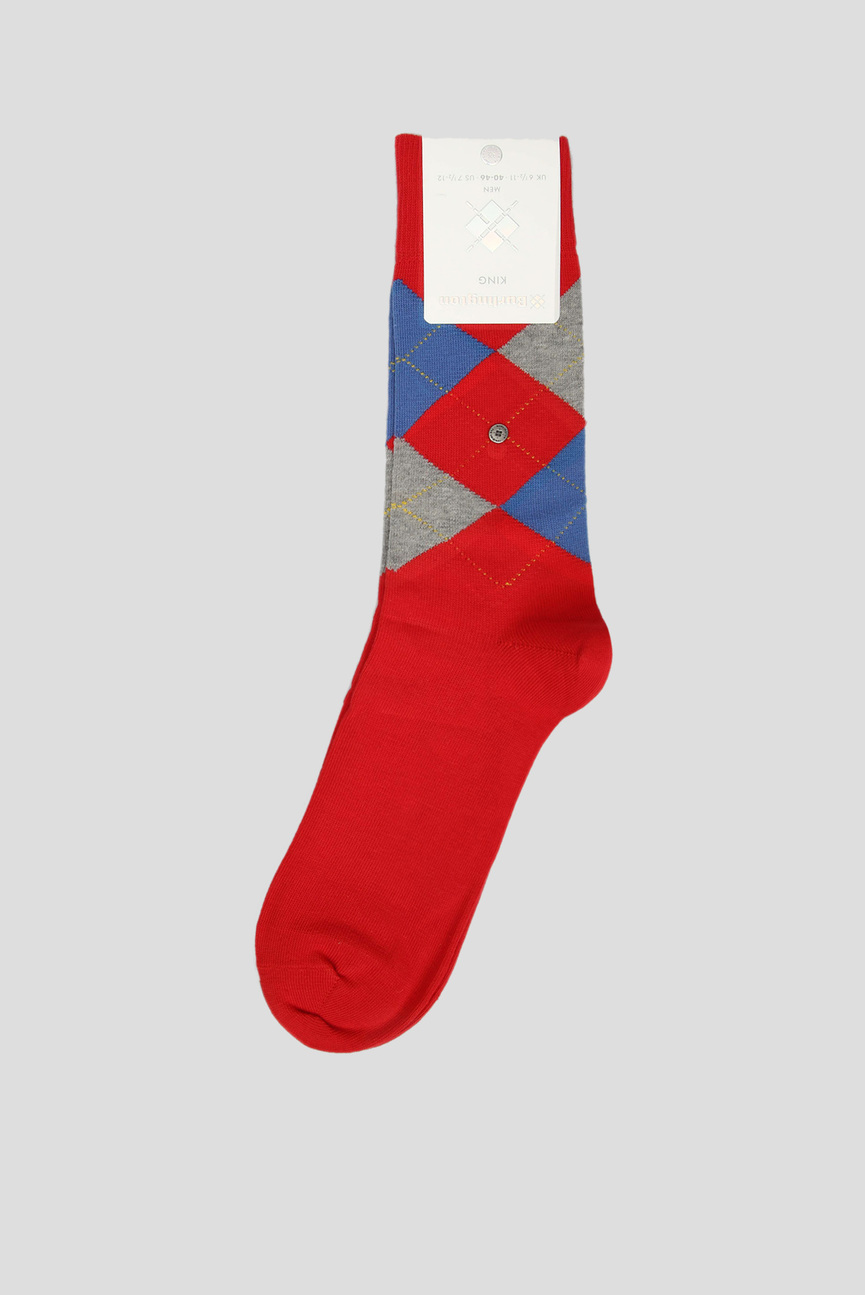 Мужские красные носки с узором