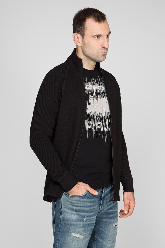 Мужская черная спортивная кофта Jirgi zip