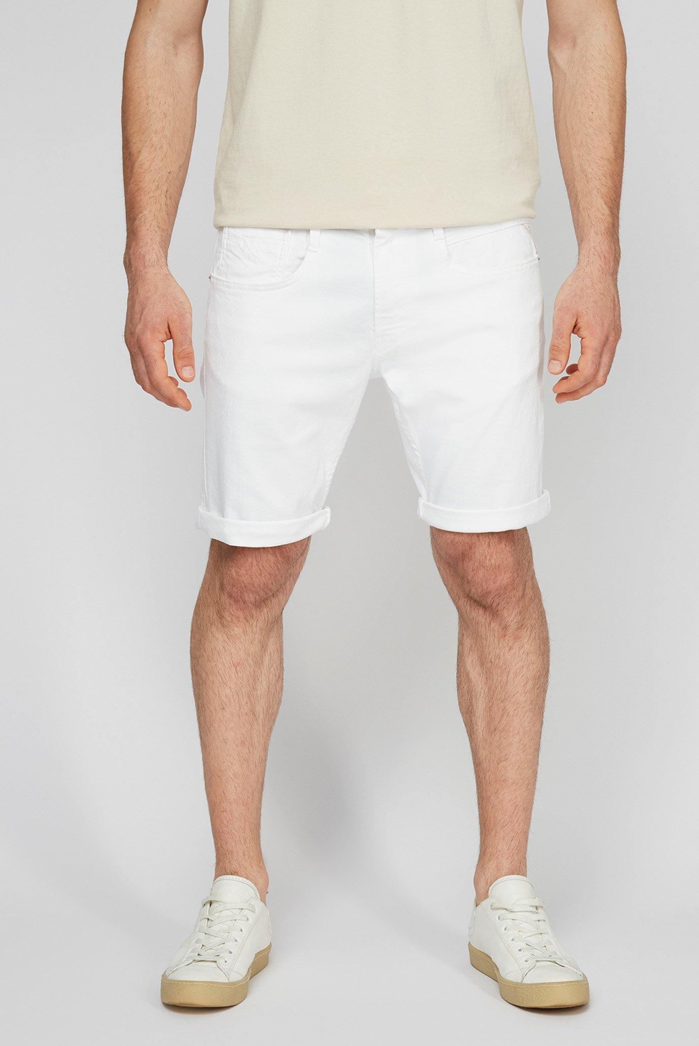Мужские белые джинсовые шорты 1