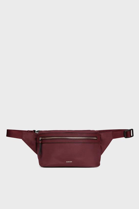 Женская бордовая поясная сумка CASEY