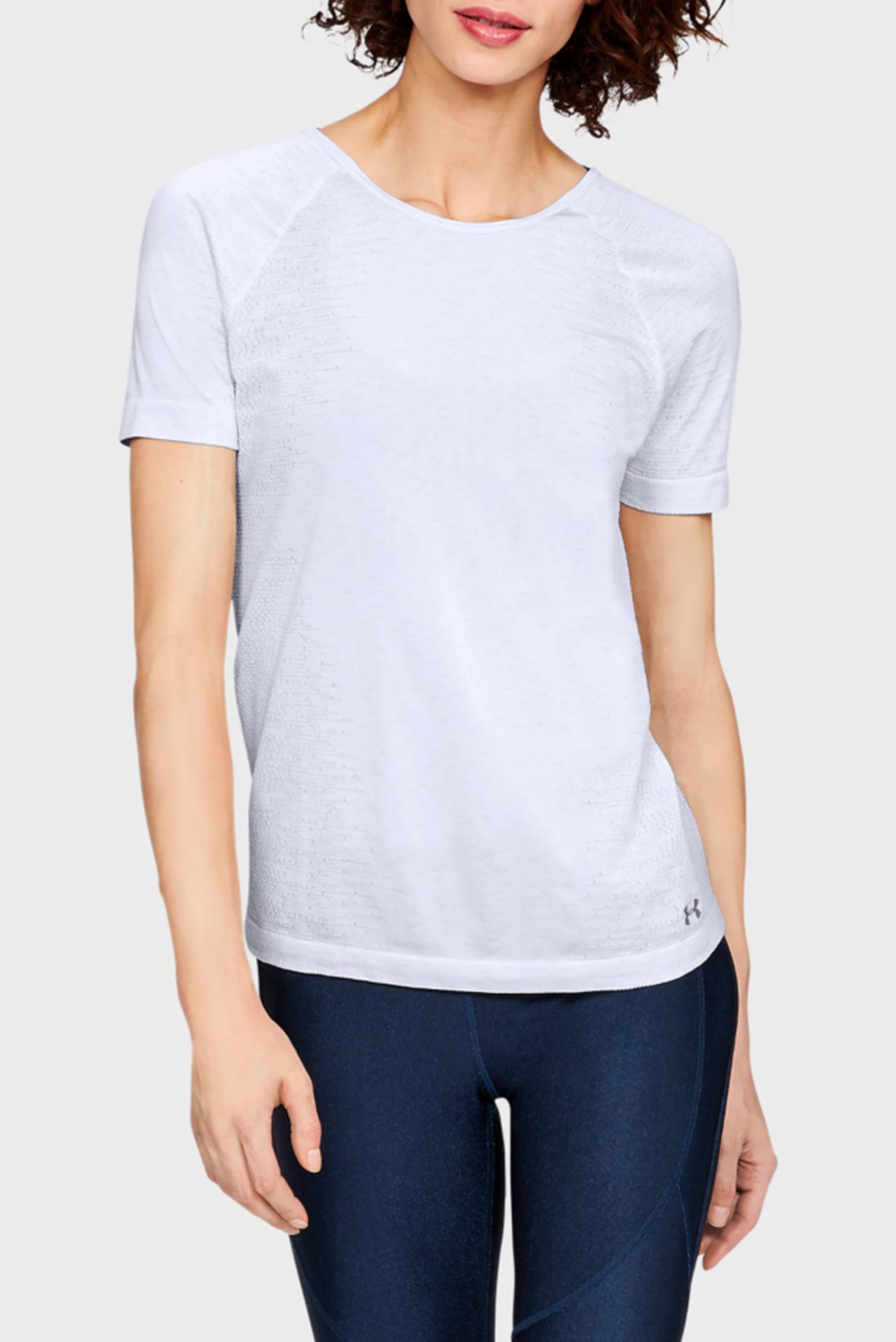 Купить Женская белая футболка TB Seamless Spacedye SS Under Armour Under Armour 1323479-100 – Киев, Украина. Цены в интернет магазине MD Fashion