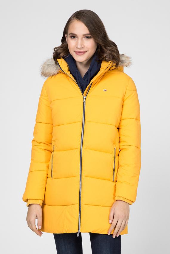 Женская желтая удлиненная куртка TJW MODERN