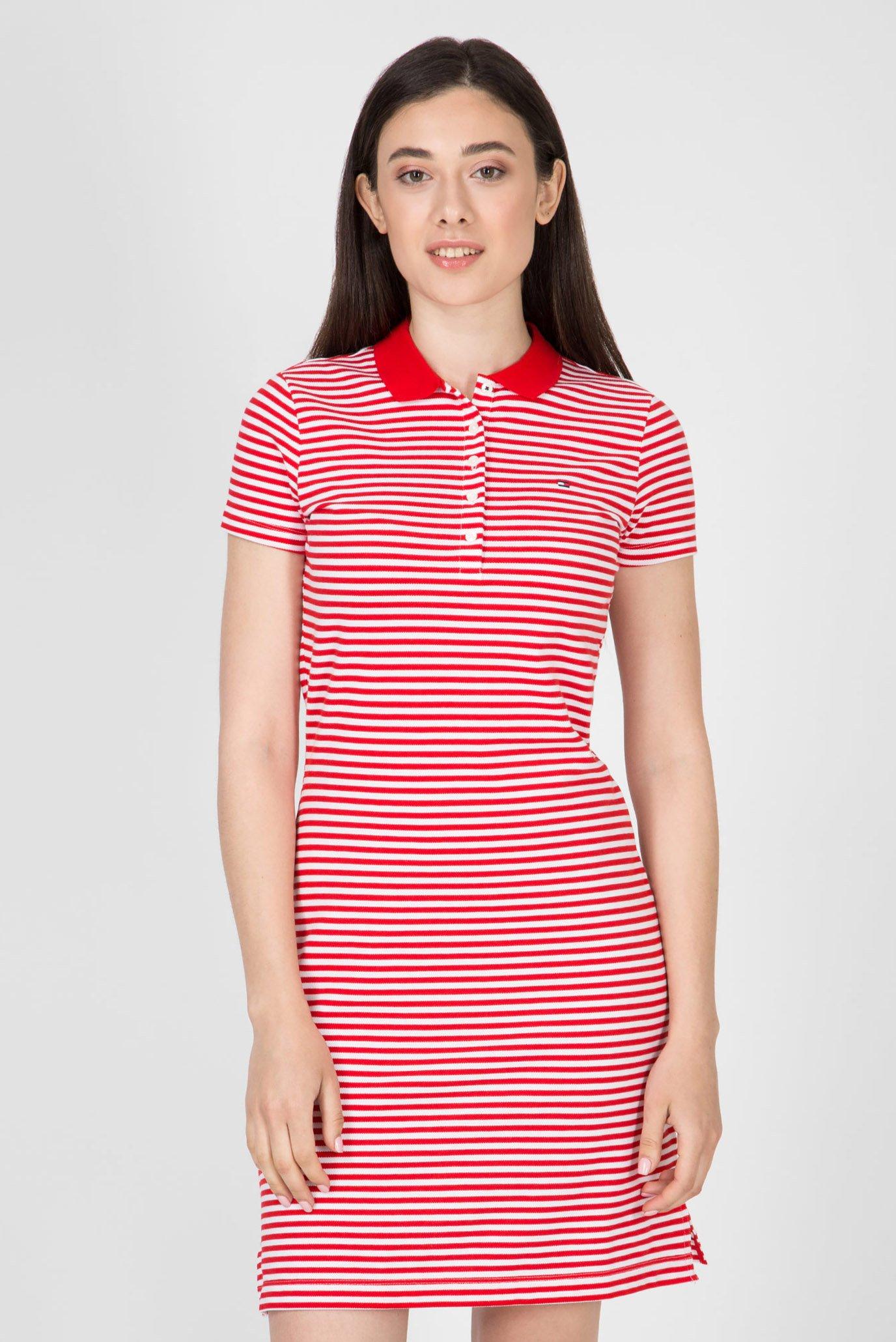 96258d124263222 Купить Женское красное платье-поло в полоску NEW CHIARA Tommy Hilfiger  Tommy Hilfiger 1M87640146 – Киев, ...