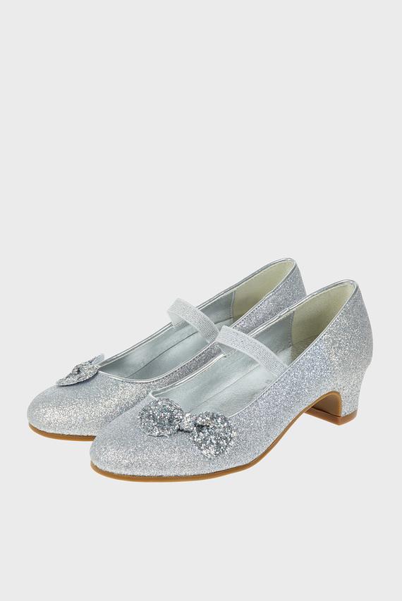 Детские серебристые туфли GLITTER BOW FLAMENCO