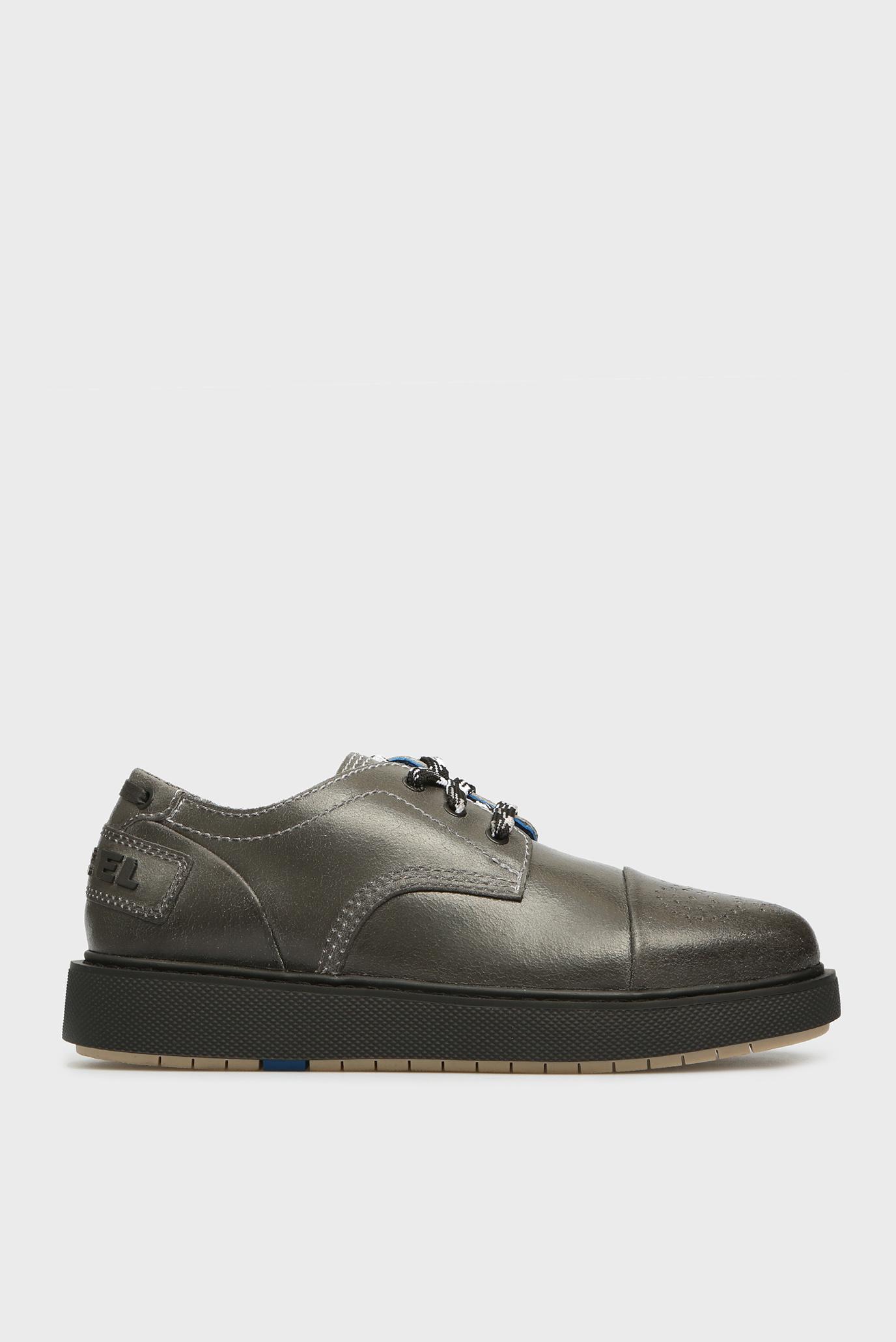Купить Мужские темно-серые кожаные ботинки CAGE Diesel Diesel Y01777 PR276 – Киев, Украина. Цены в интернет магазине MD Fashion