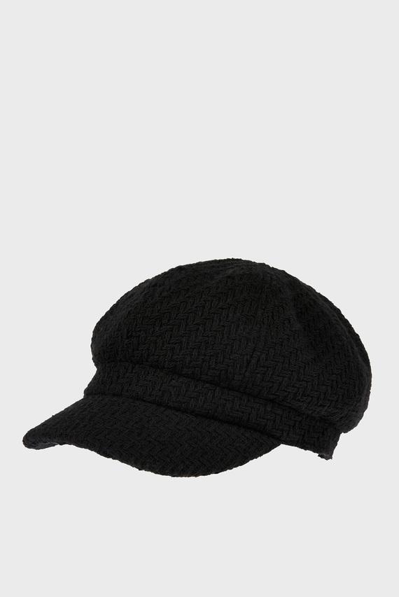 Женское черное кепи TEXTURED BAKERBOY