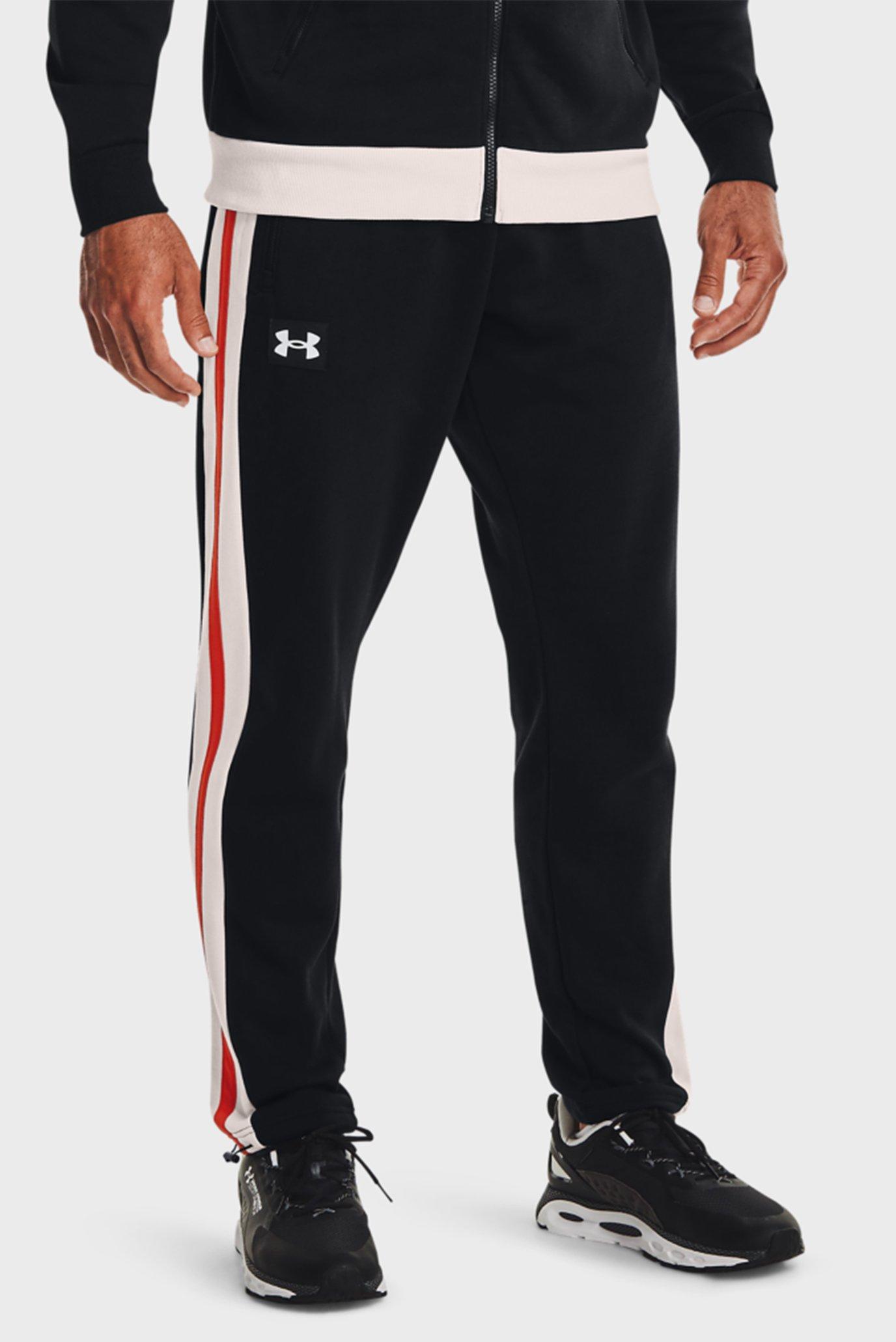 Мужские черные спортивные брюки UA RIVAL FLC ALMA MATER PANT 1
