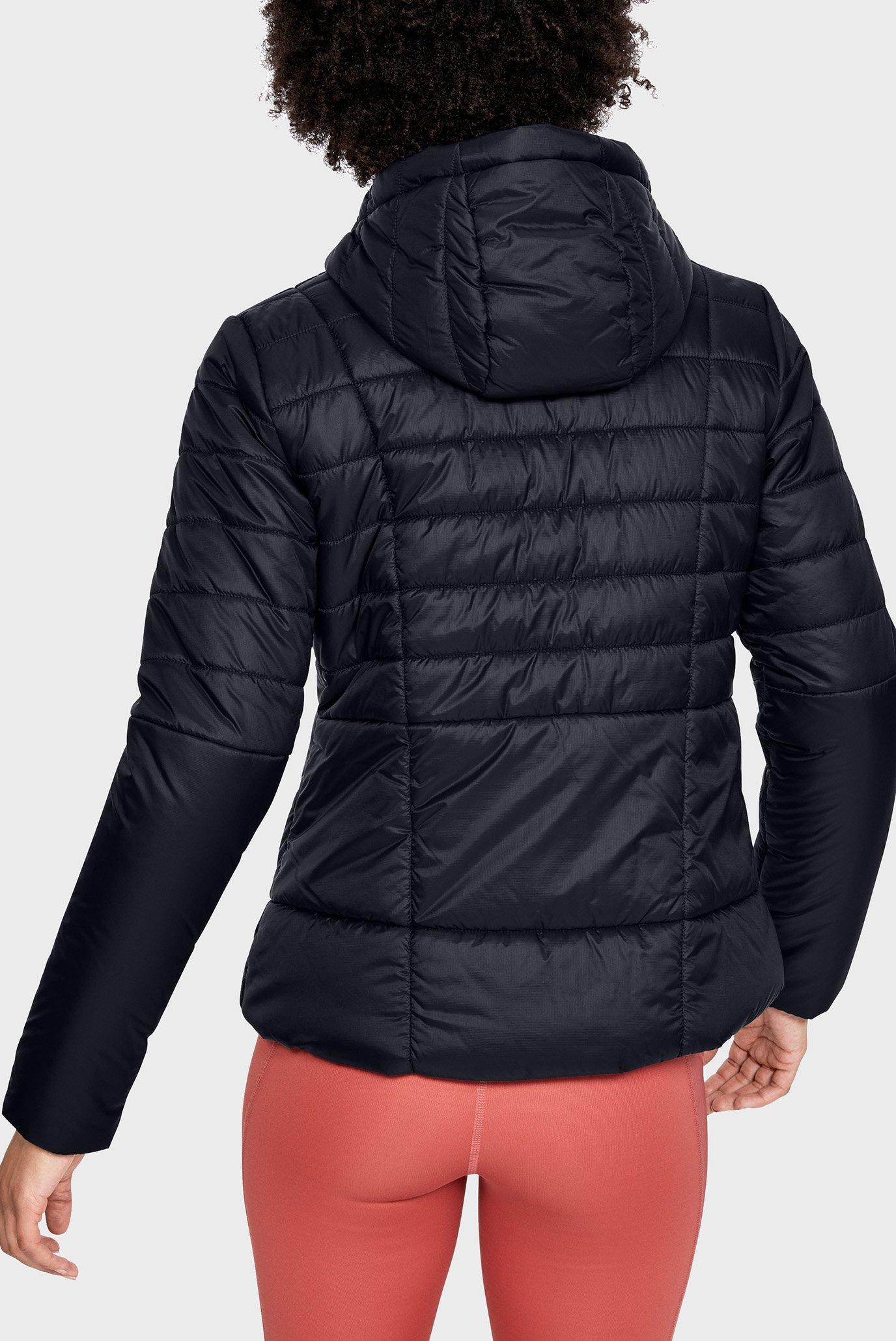 Женская черная куртка UA Armour Insulated Hooded Under Armour