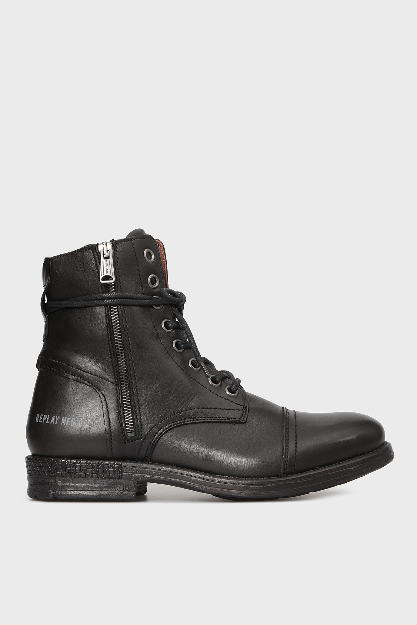 Купить Мужские черные кожаные ботинки Replay Replay RC410017L – Киев, Украина. Цены в интернет магазине MD Fashion
