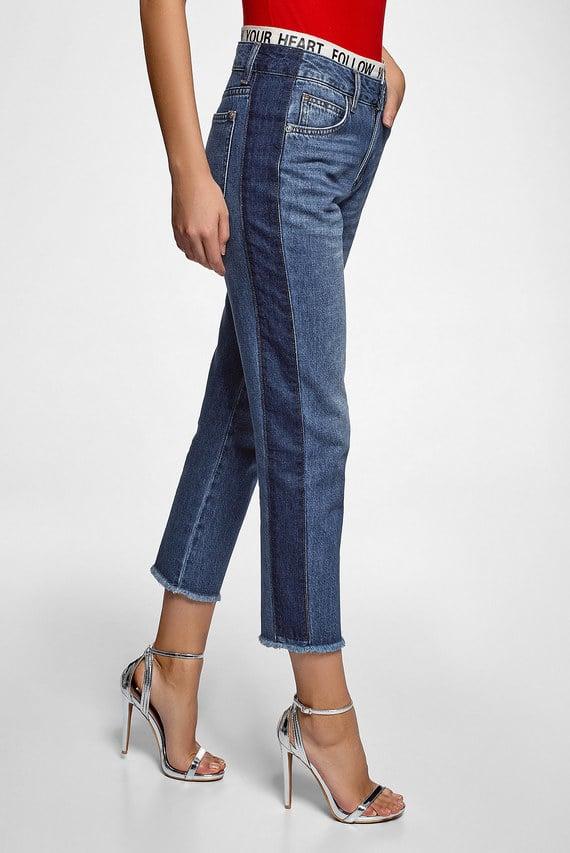 Женские синие джинсы Mom Fit