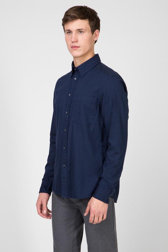 Мужская темно-синяя рубашка BRUSHED TWILL