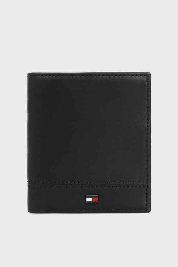 Мужской черный кожаный кошелек TH ESSENTIAL NS