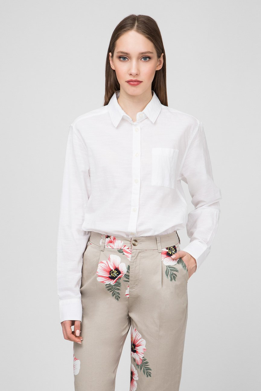 Женская белая рубашка CAMERON