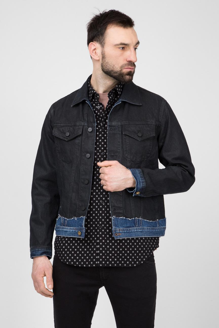 Мужская черная джинсовая куртка D-CADY